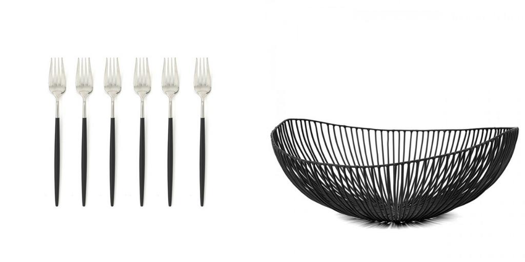 accessoire deco table noir et blanc