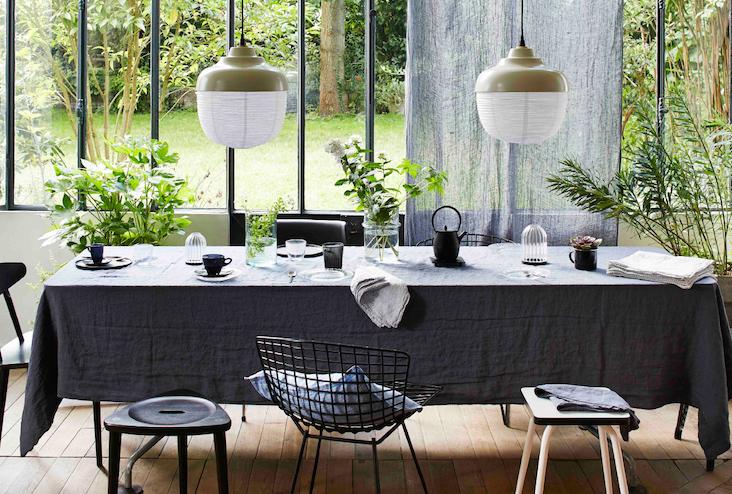 art de la table utiliser noir et blanc salle a manger repas