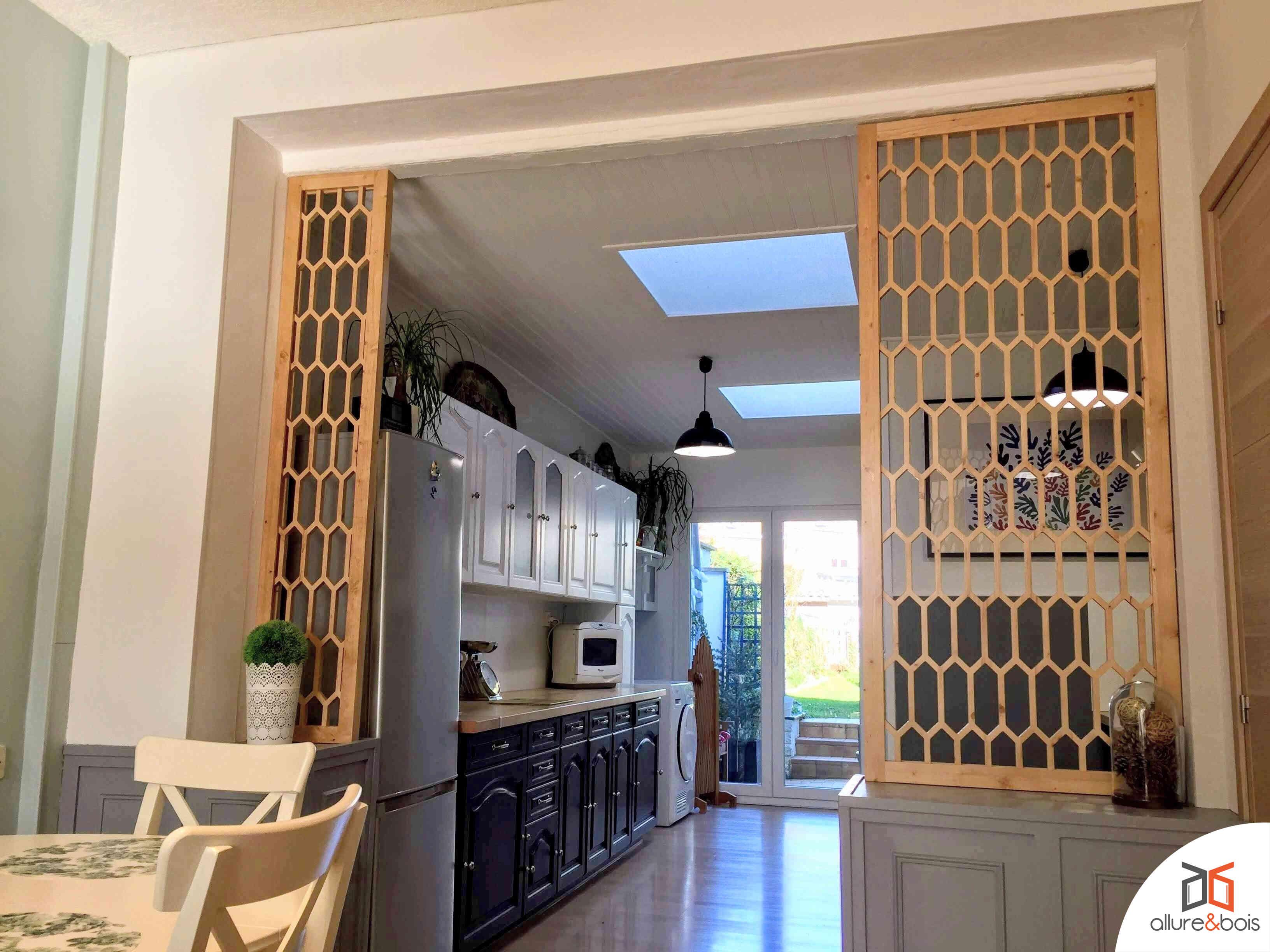 cuisine claustra bois cloisonnement espace