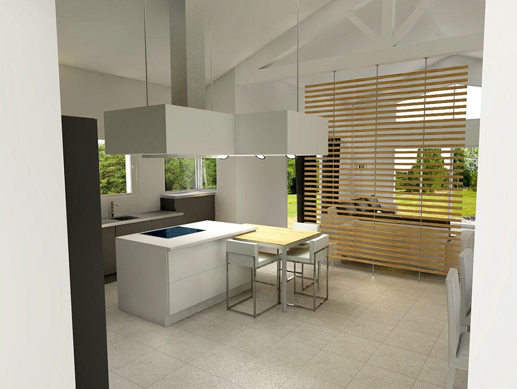 cuisine claustra idee deco separation espace