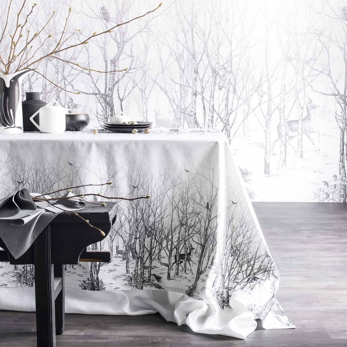 deco table quotidien noir et blanc