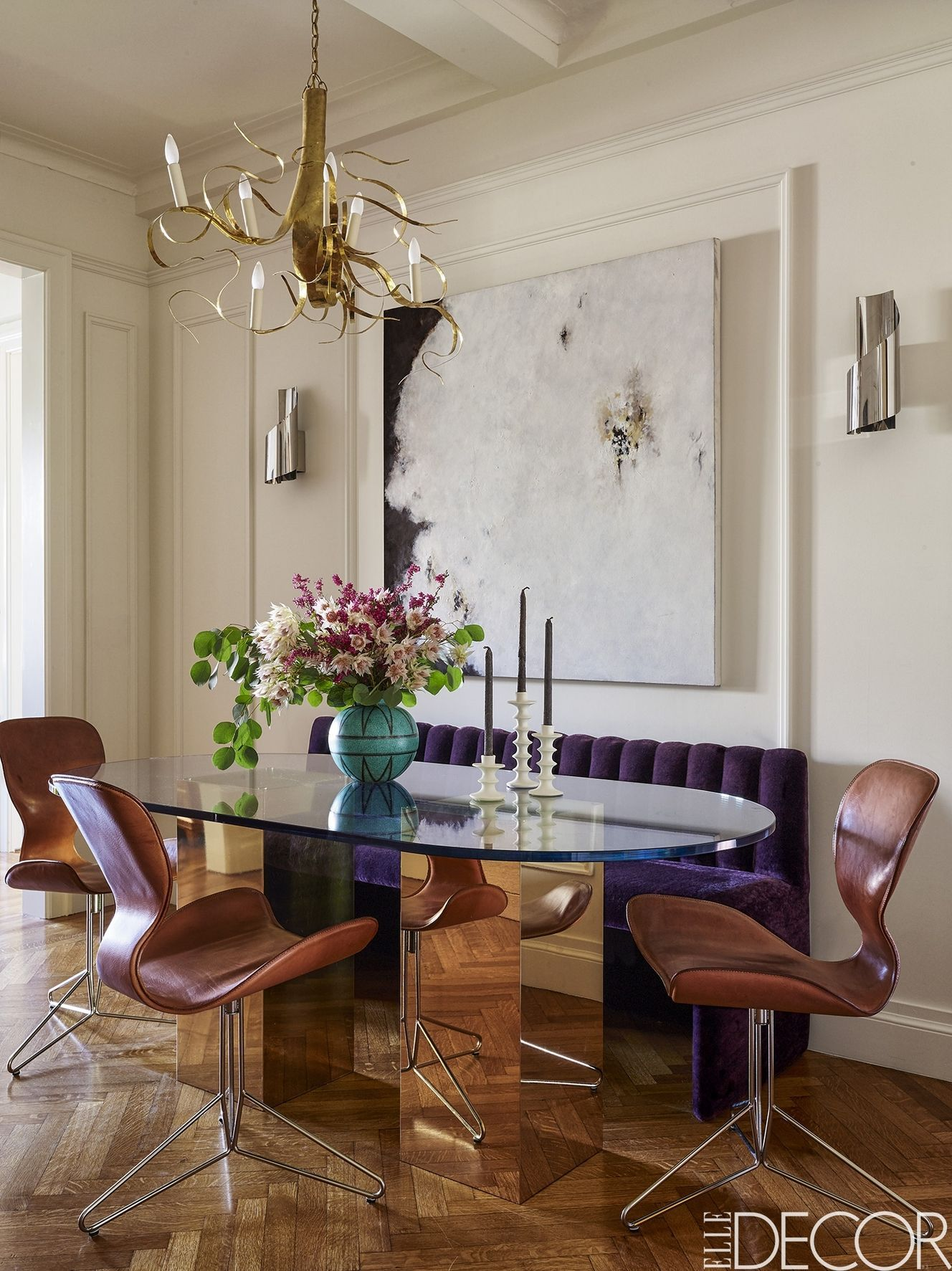 eclairage salle a manger inspiration deco glamour