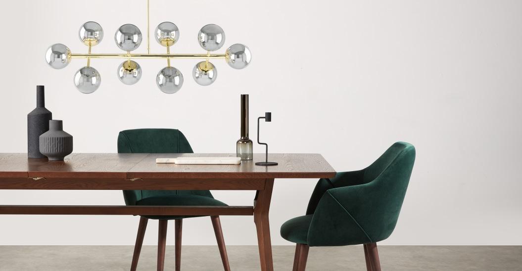 eclairage salle a manger suspension modern glam