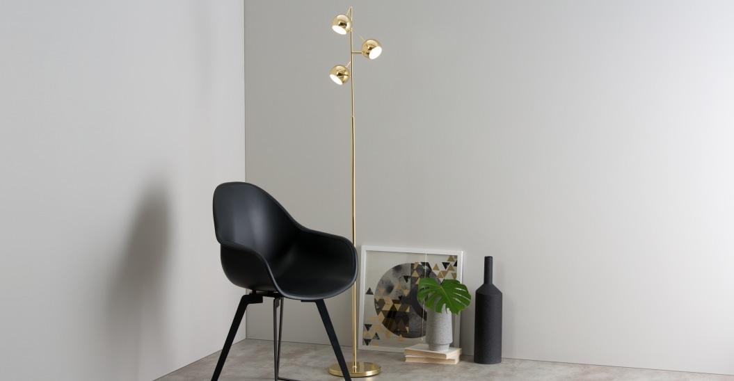 lampadaire laiton petit globe