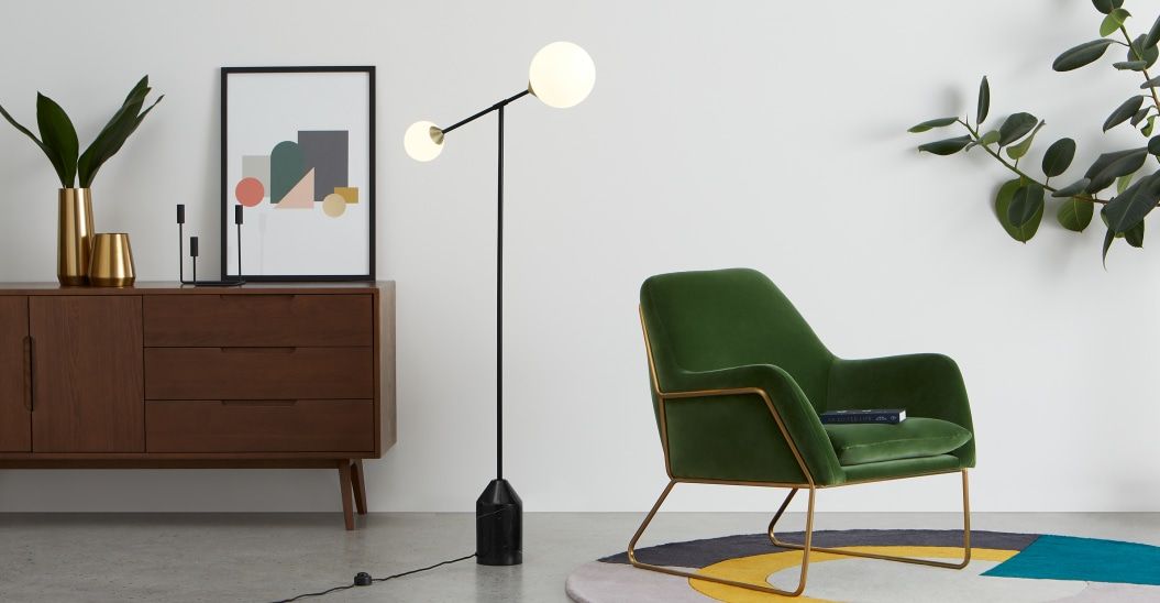 lampadaire noir simple et elegant