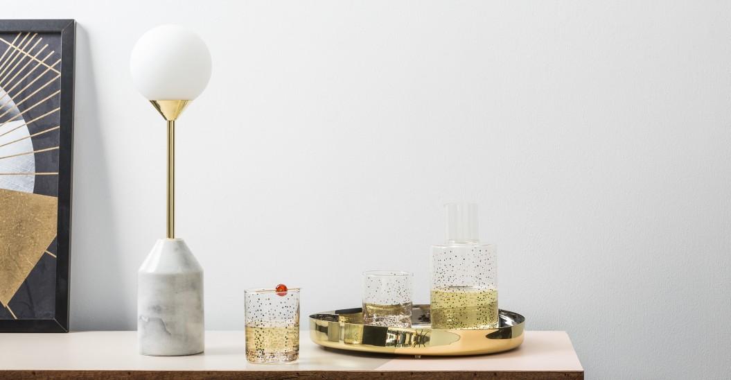 lampe a poser marbre laiton opaline