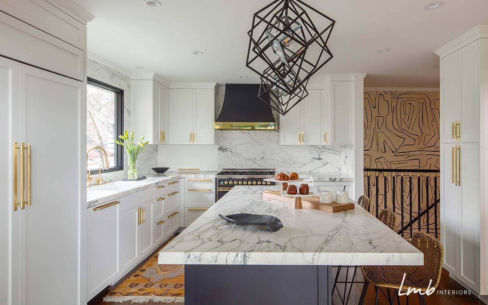 modern glam luminaire cuisine geometrique