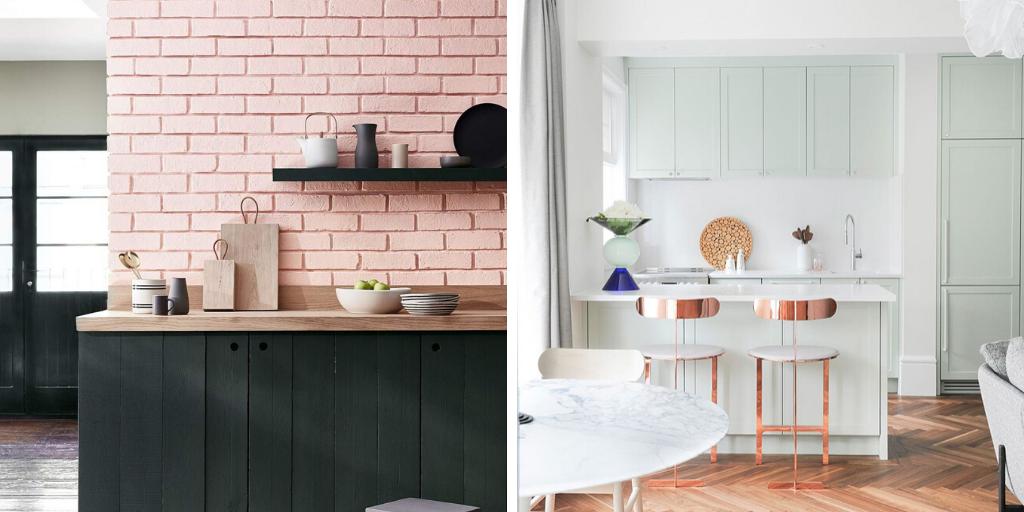 petit espace couleur pastel cuisine idee