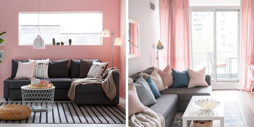 petit espace interieur couleur rose utilisation