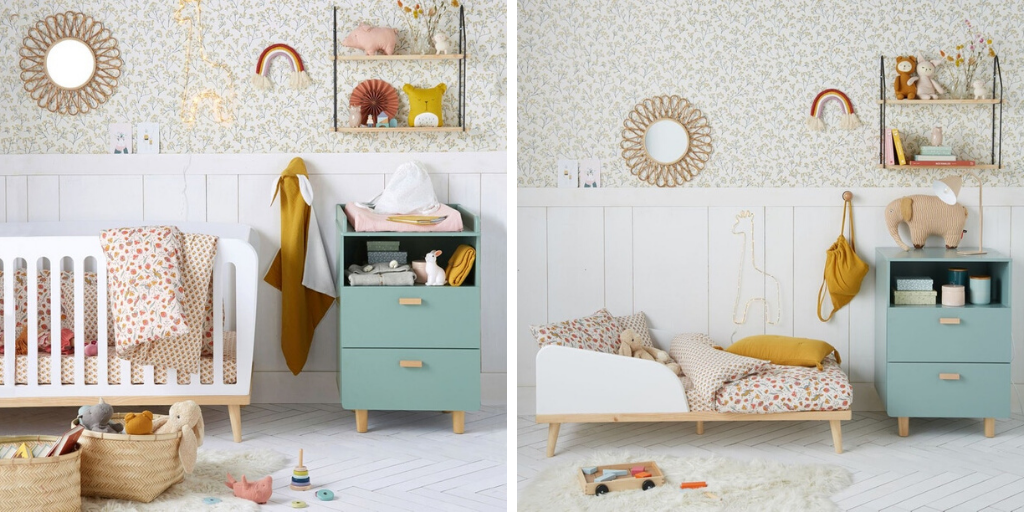 petite chambre enfant joli lit evolutif