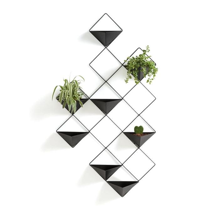 plante deco murale cache pot noir geometrique