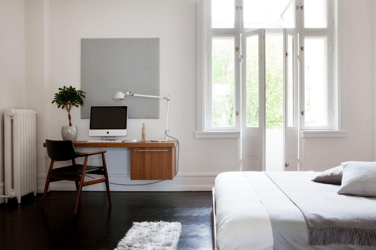 slow deco chambre minimaliste bureau