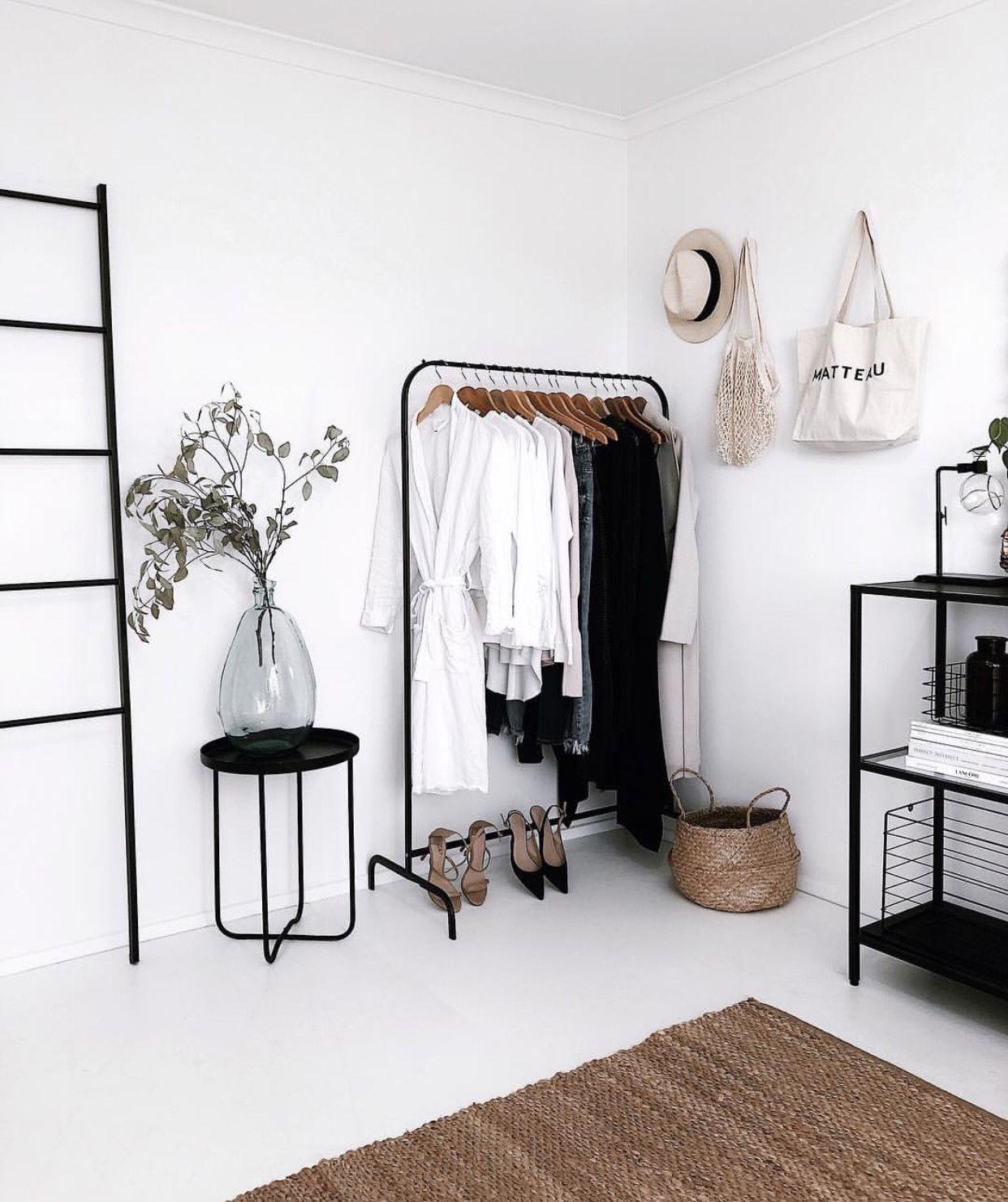 slow deco chambre minimaliste rangement penderie