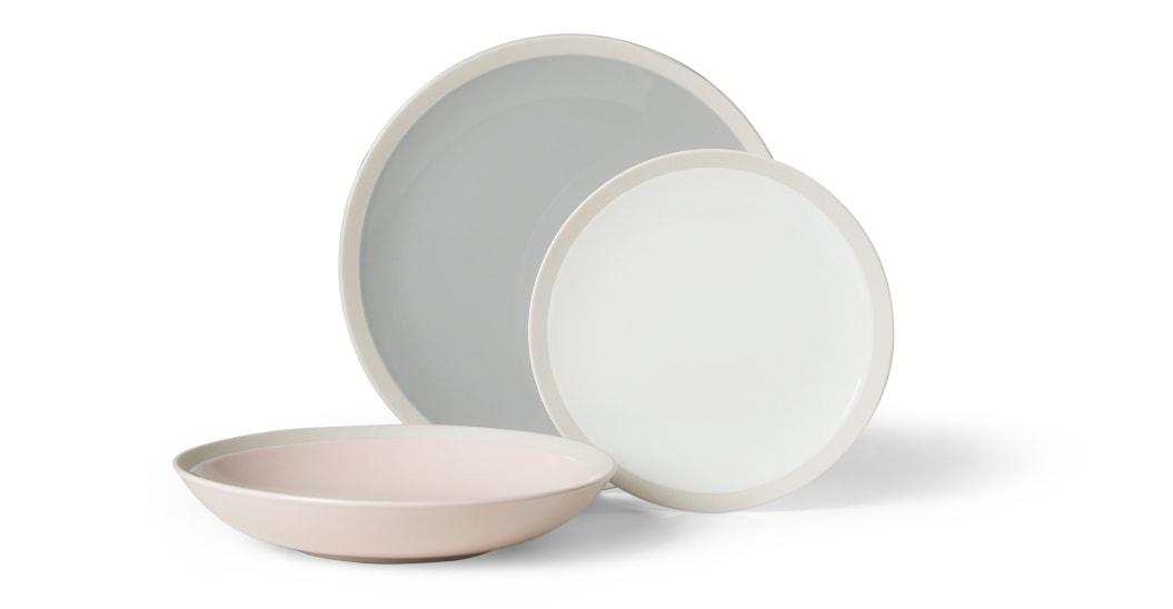 slow deco service assiette epuree coloree minimaliste
