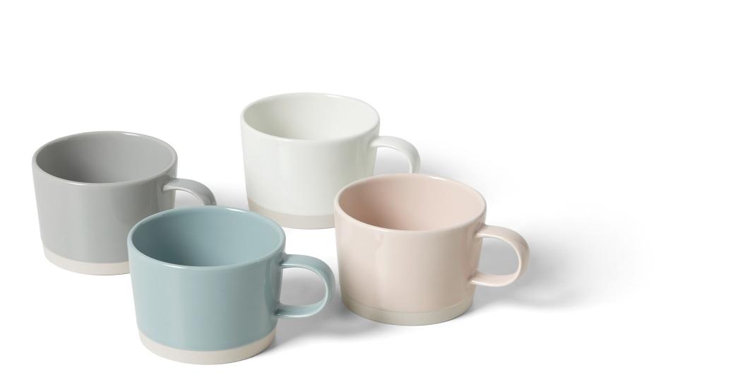 slow deco tasses couleur pastel minimaliste