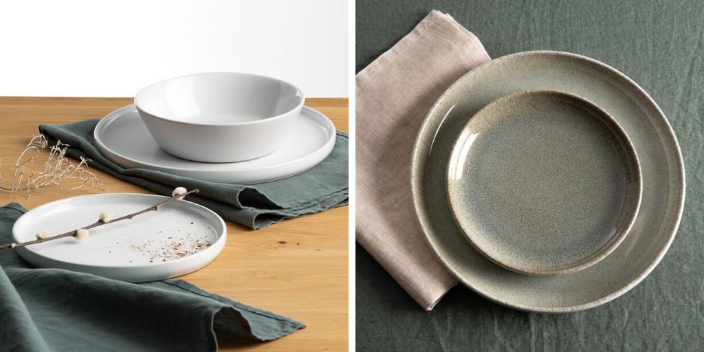 slow deco vaisselle minimaliste assiettes