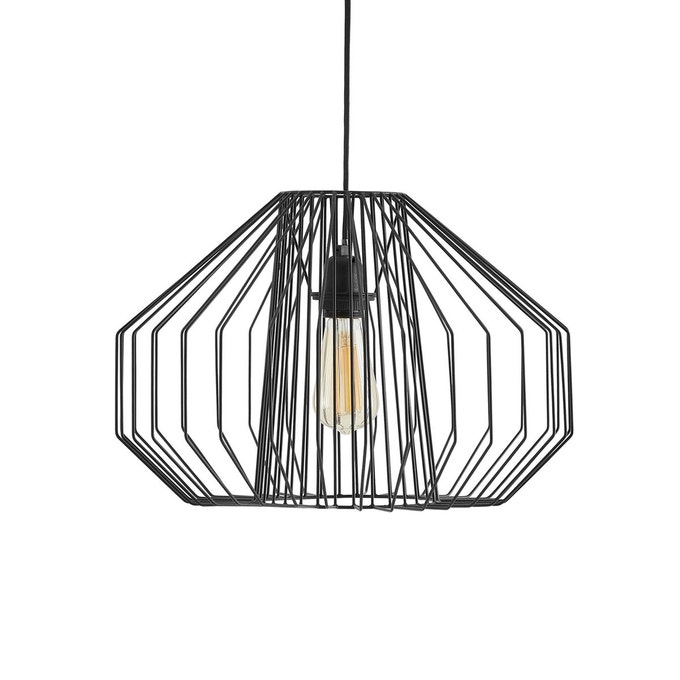 style modern glam suspension filaire noire