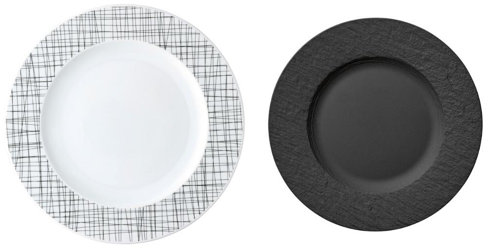 table noir blanc assiette deco