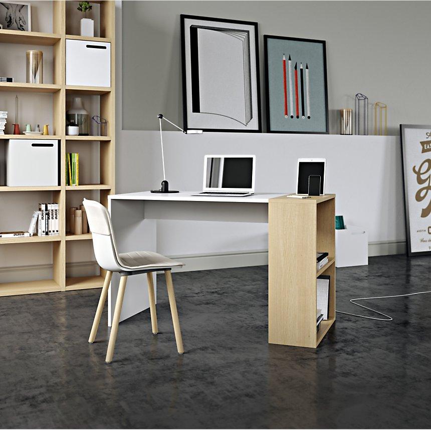teletravail petit bureau etagere rangement