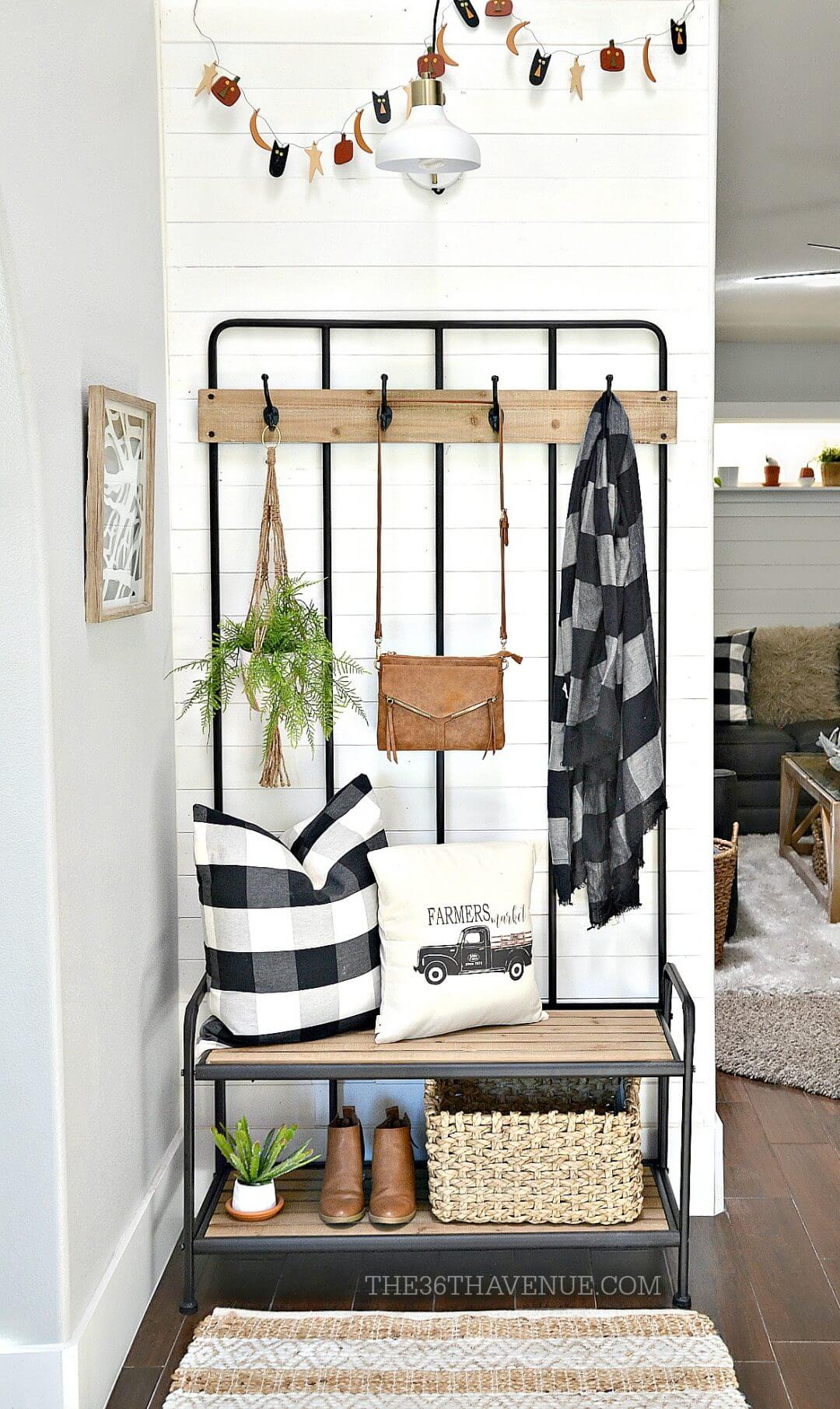 amenagement decoration petite entree mobilier