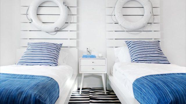 chambre deco bor de mer tete de lit