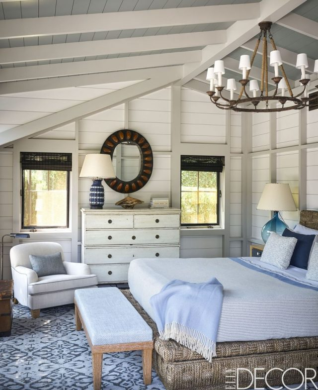 chambre deco bord de mer revetement mural bois