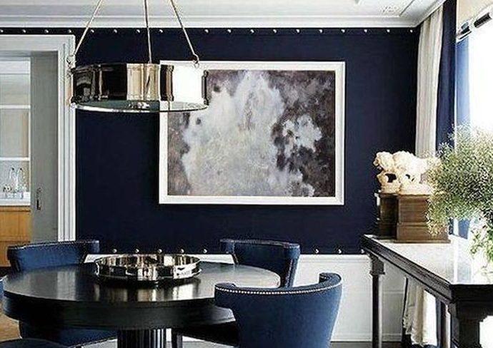 couleur sombre salle a manger idee decoration