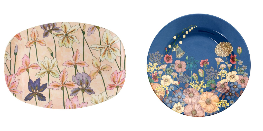 deco table assiette fleurie printemps