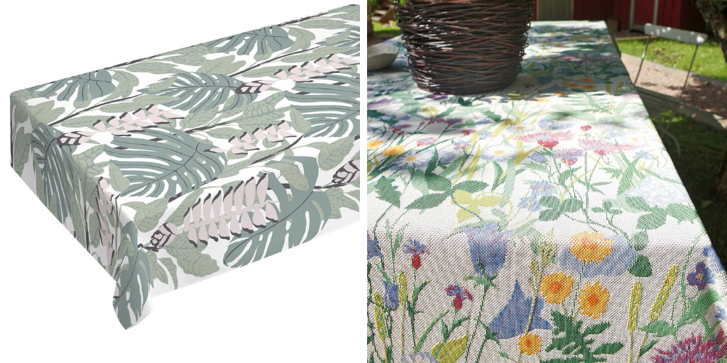 deco table nappe fleurie printemps