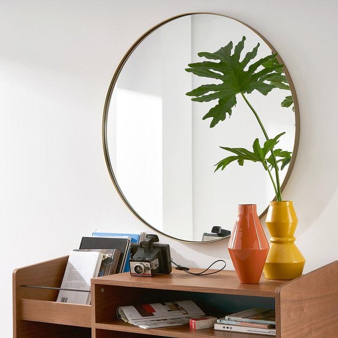 decoration petite entree miroir rond 90 cm