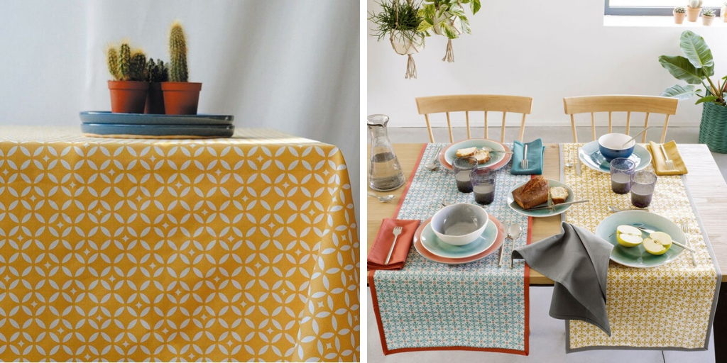 linge de table printemps jaune