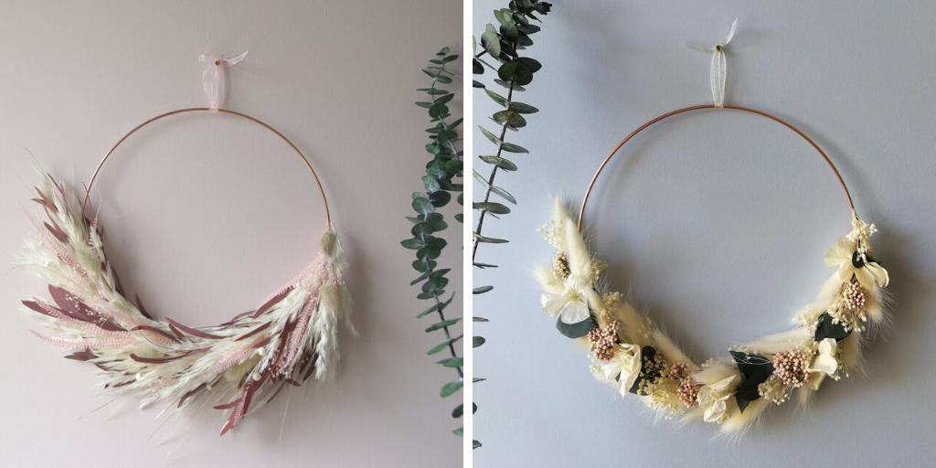 ou touver couronne fleur sechee cuivre