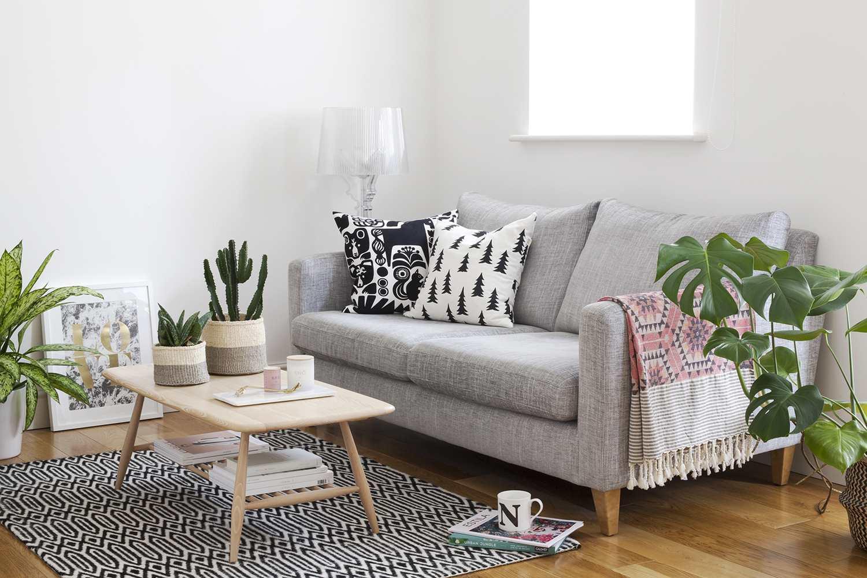 salon minimaliste rangement table basse