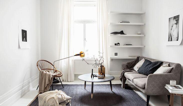 slow deco salon minimaliste idee rangement