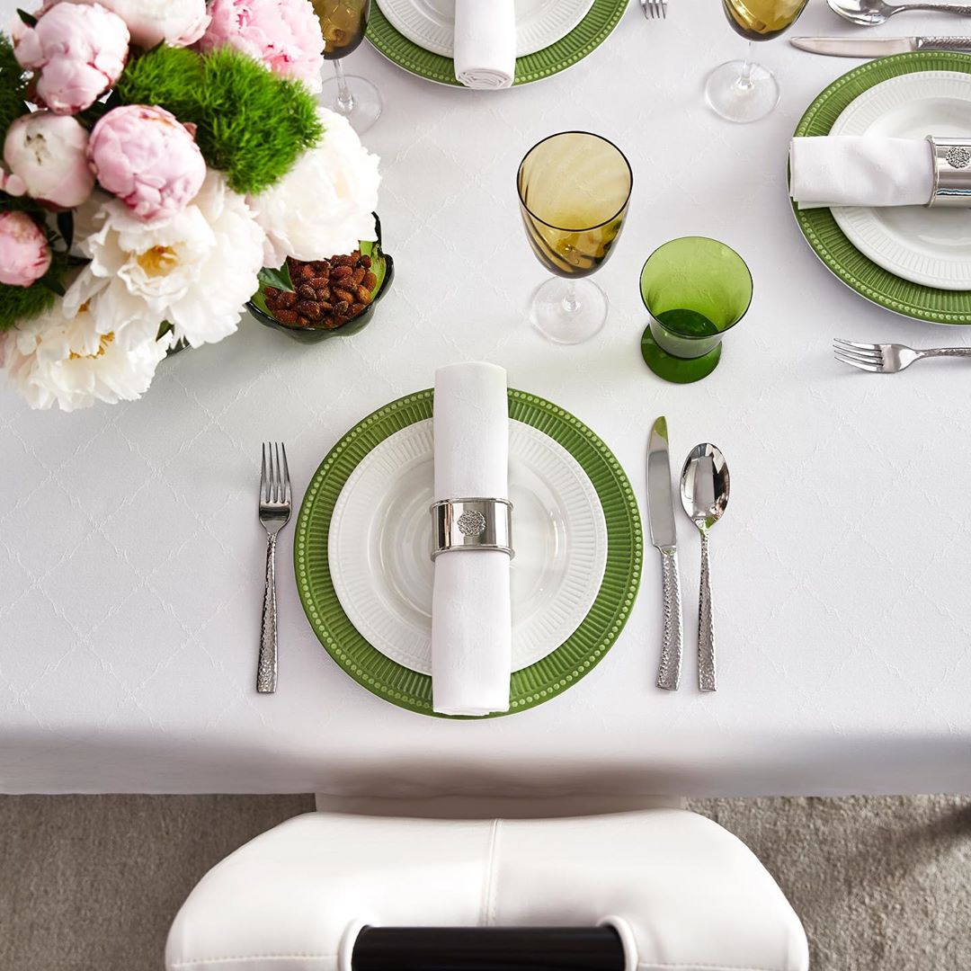 table printemps idee deco simple vert fleur