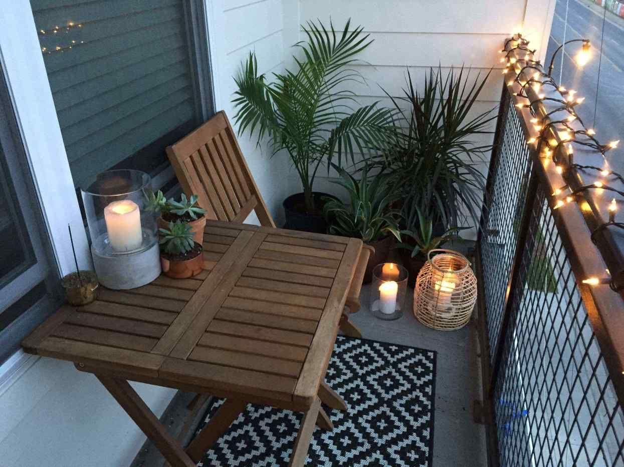 balcon deco mobilier bois