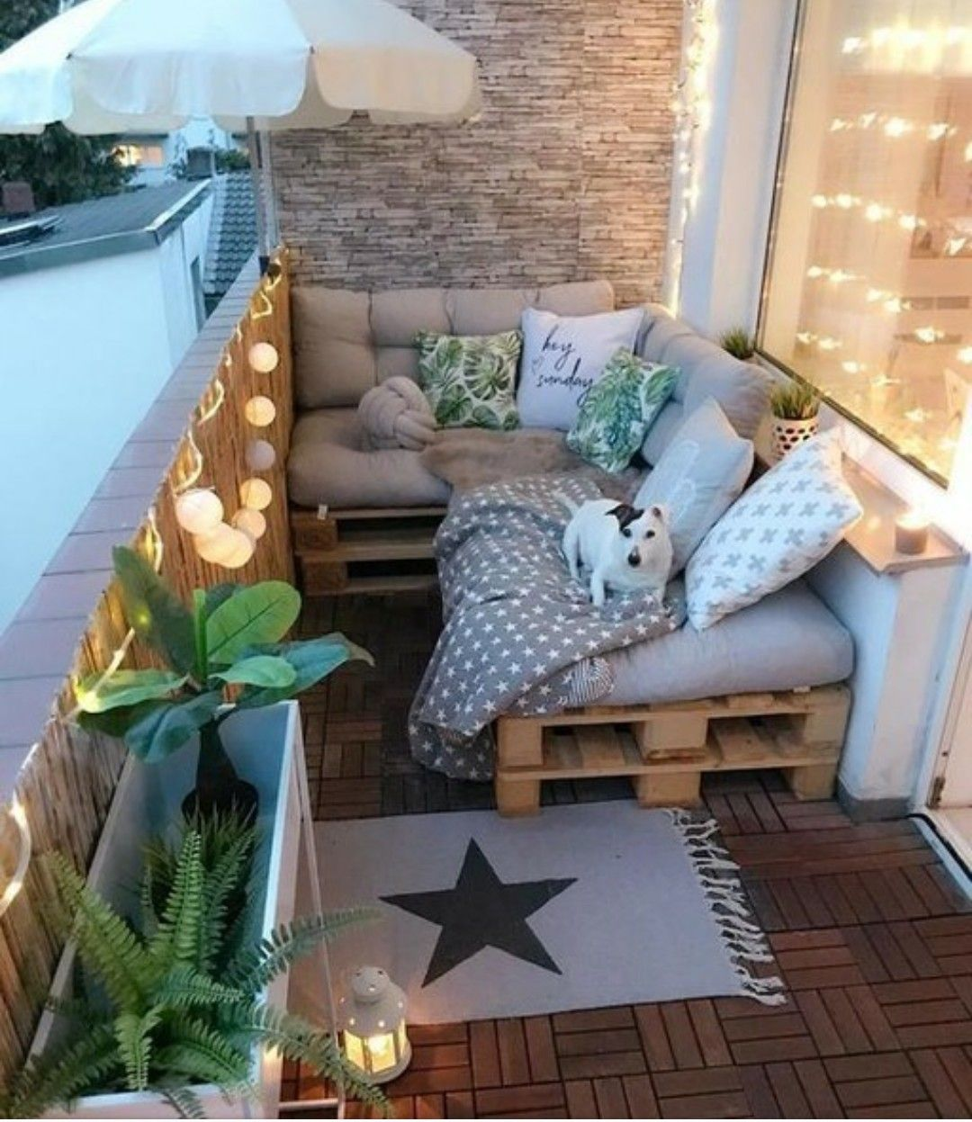 balcon deco mobilier palette