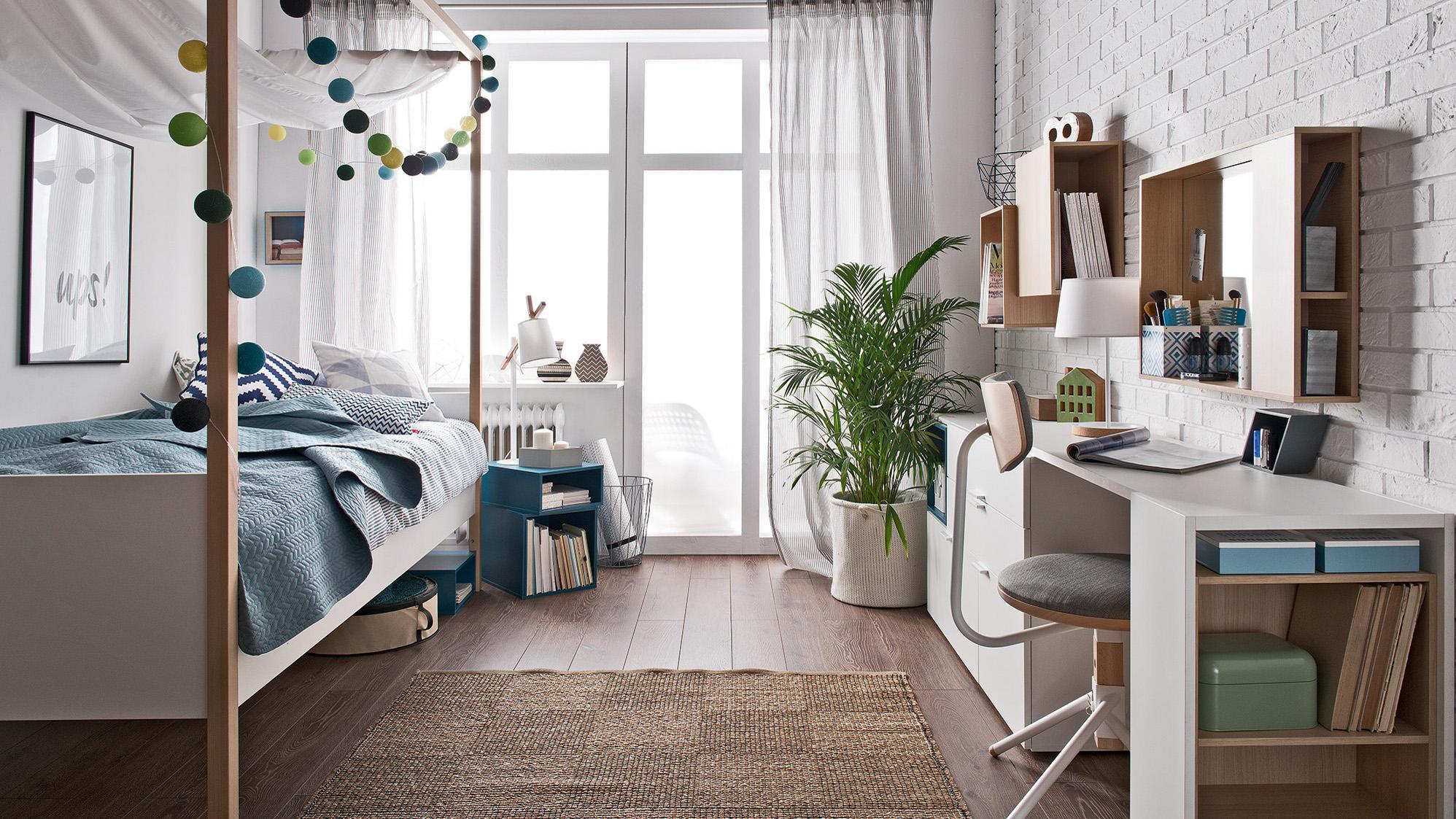 chambre ado gain de place bureau et lit