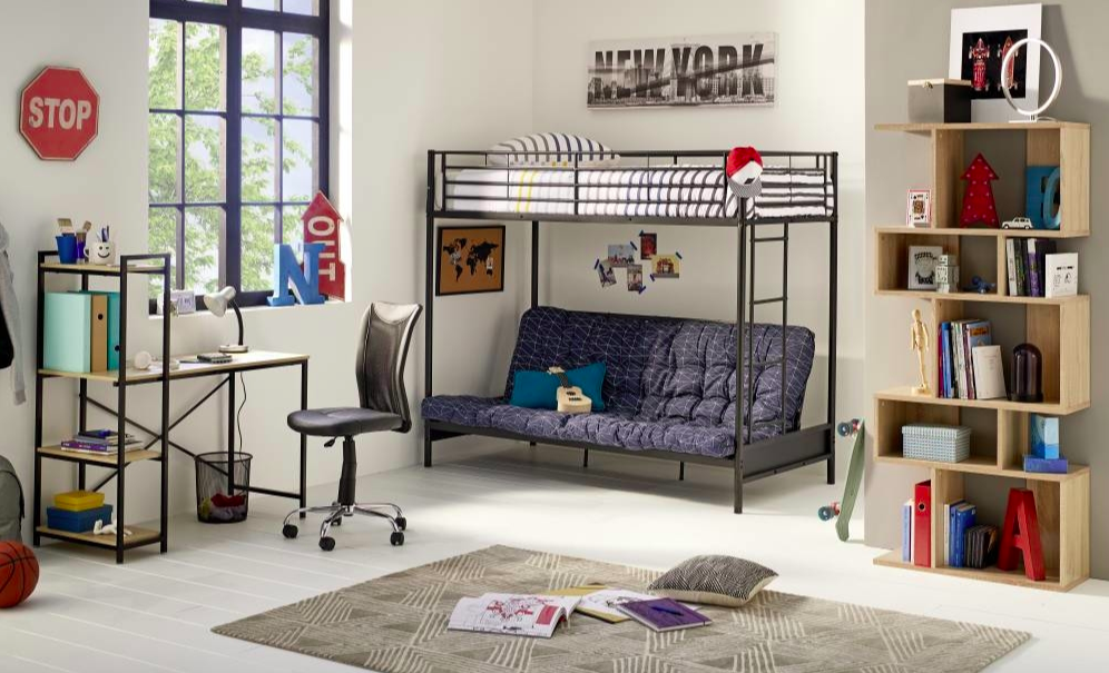 chambre ado gain de place lit mezzanine canape pas cher