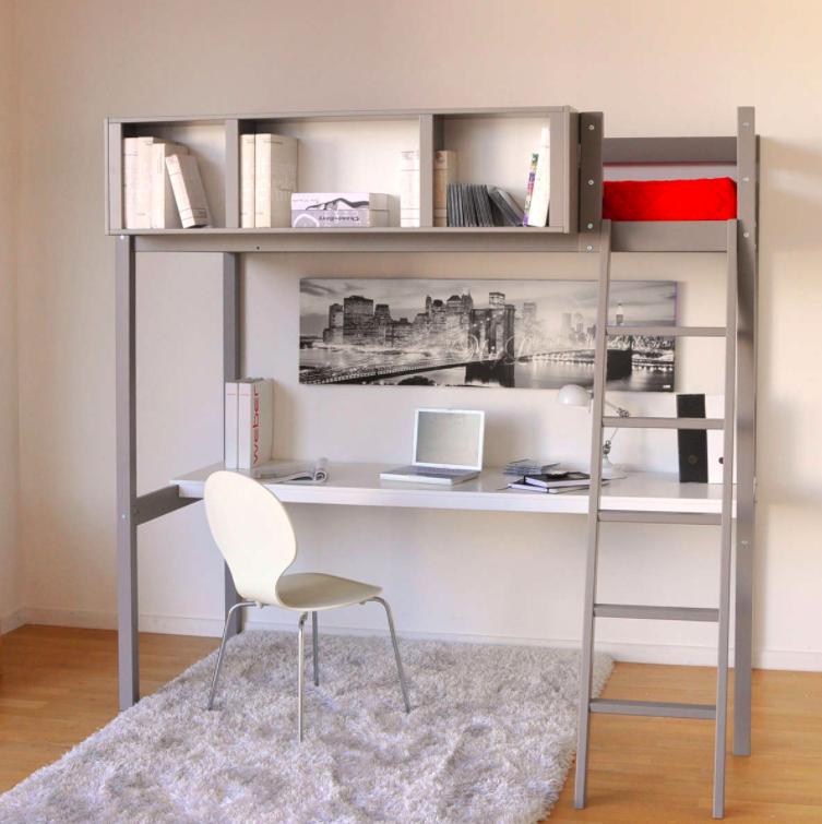 chambre ado gain de place mezzanine bureau pas cher