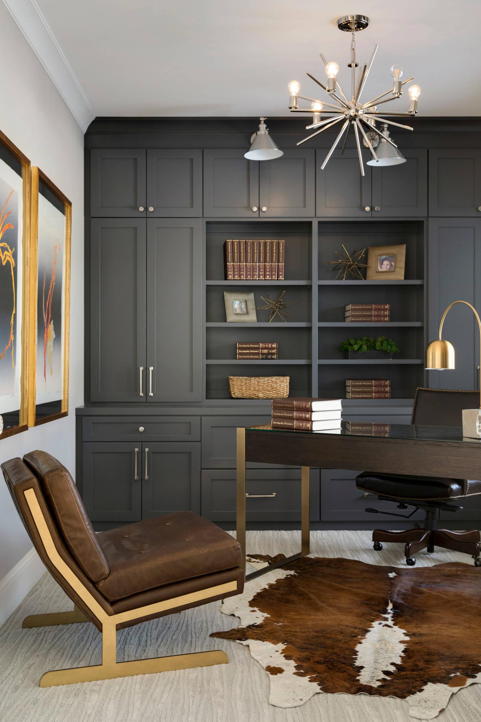 couleur foncee bureau bibliotheque gris