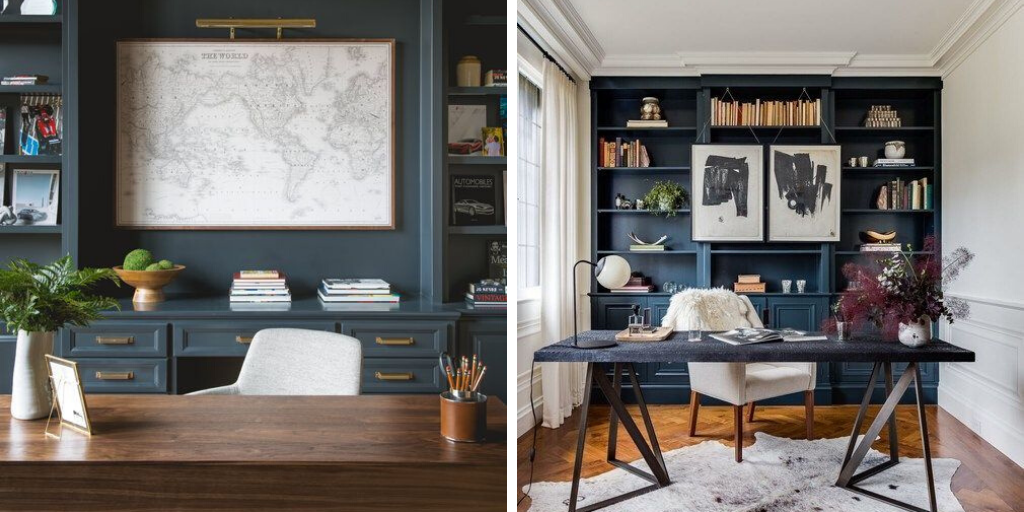 couleur sombre bureau bleu mat