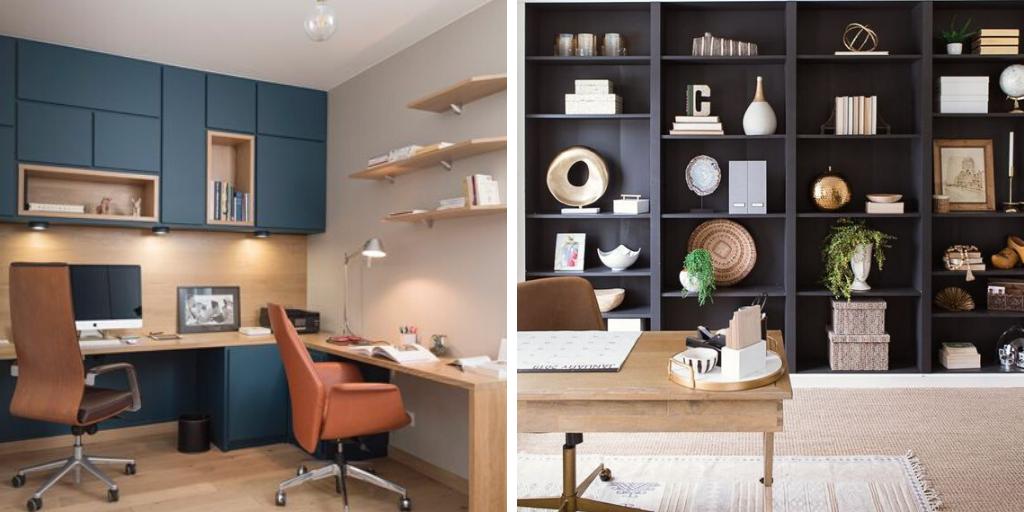 couleur sombre bureau mobilier