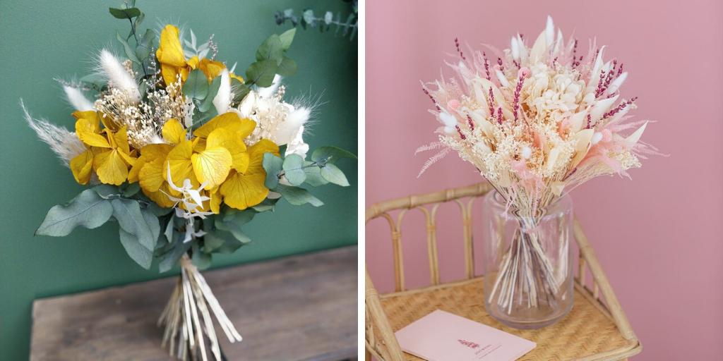 deco salon bouquet fleur sechees