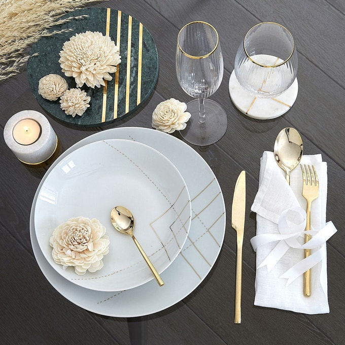 idee deco art de la table or
