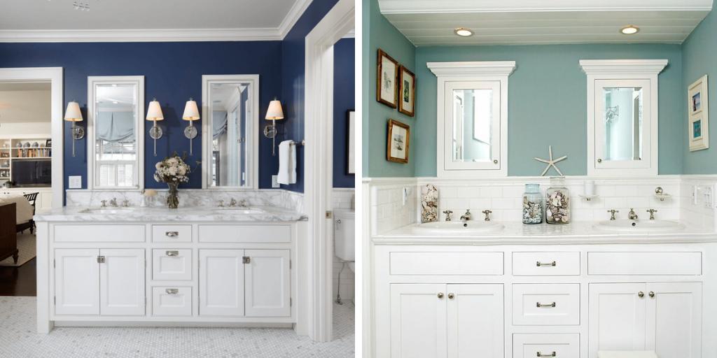 salle de bain bord de mer couleur mur