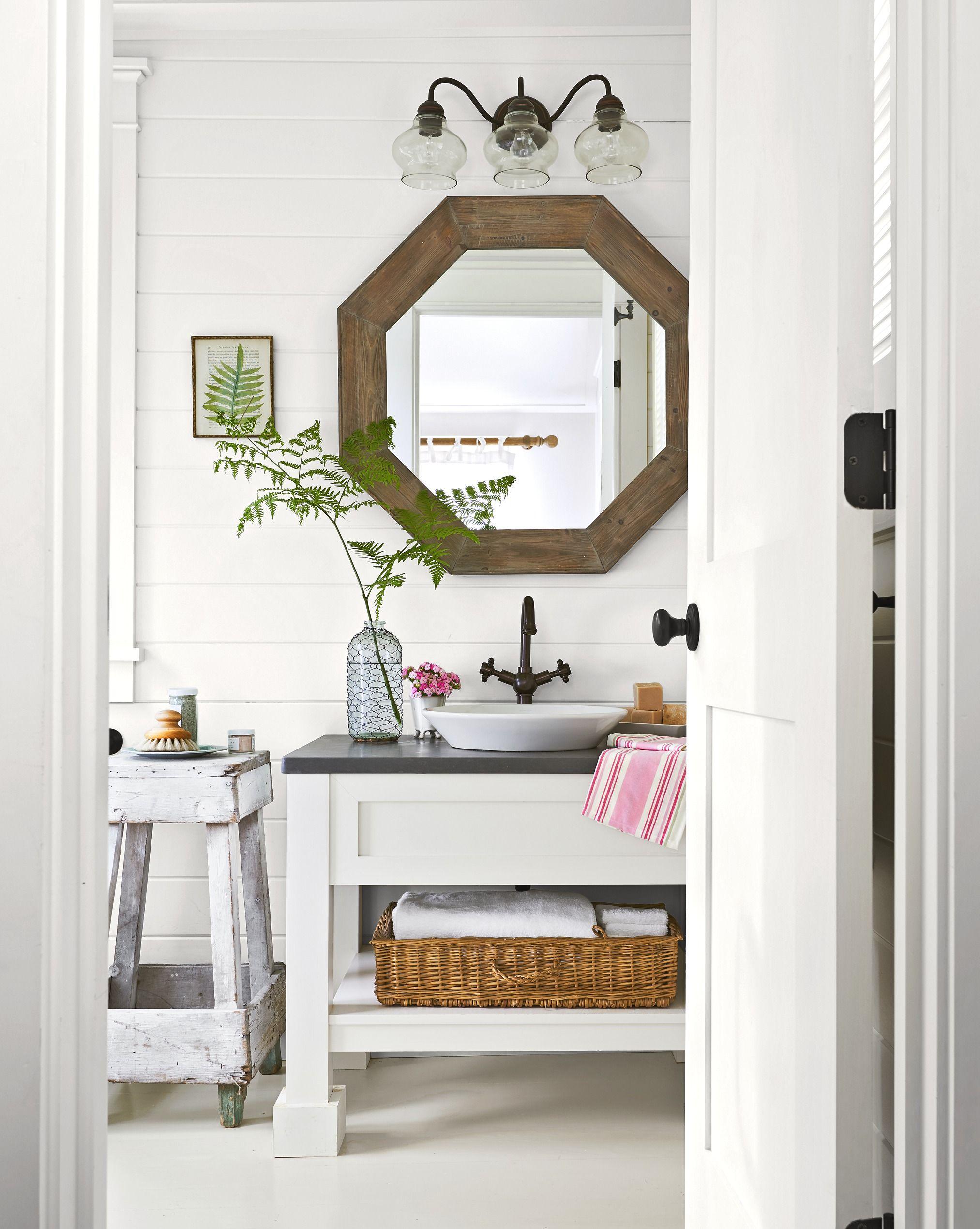 salle de bain bord de mer meuble sous vasque original