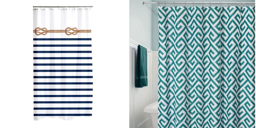 salle de bain bord de mer rideau de douche