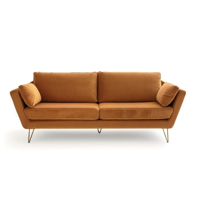 velours deco canape ocre tabac