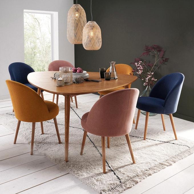 velours deco chaises salle a manger couleur